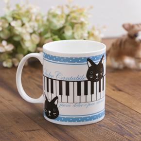 【ピアノライン】マグカップ(ネコ柄)